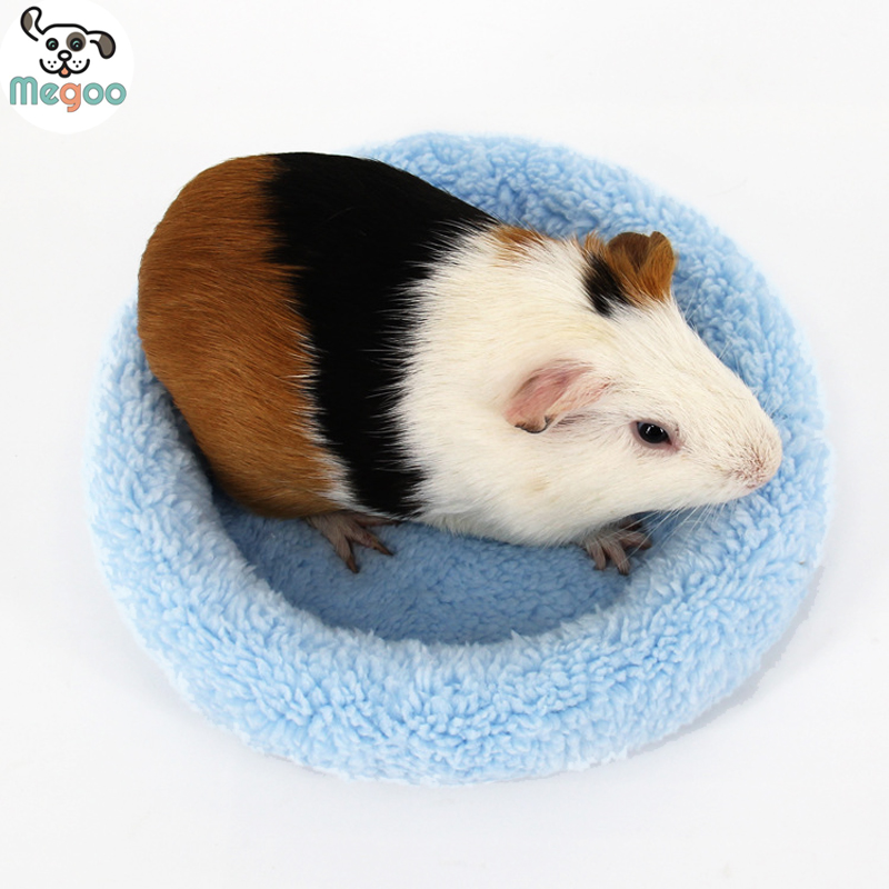 Soft Fleece Guinea Pig Bed Winter Warm Rabbit Hamster Mat Small Animal Cage Bed(China (Mainland))