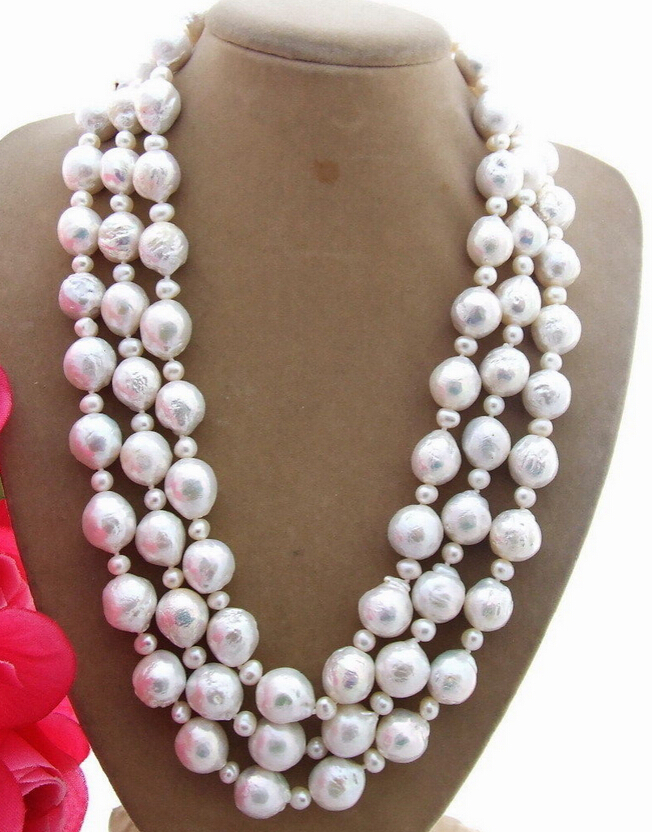 Miss charm Jew.637 11x13mm Bead-Nucleated Pearl Necklace (A0322)<br><br>Aliexpress