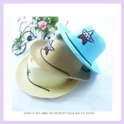 Free Shipping 5pcs/lot Hot Hot Design Kids Summer Sun Hat Boys Straw Cowboy Hat for Sale(China (Mainland))