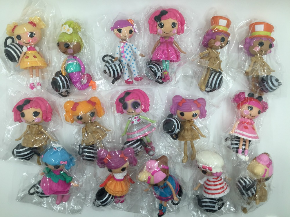 8cm MGA Lalaloopsy dolls accessories Mini Dolls For Girl's Toy PlayHouse Each Unique 1pcs random send(China (Mainland))