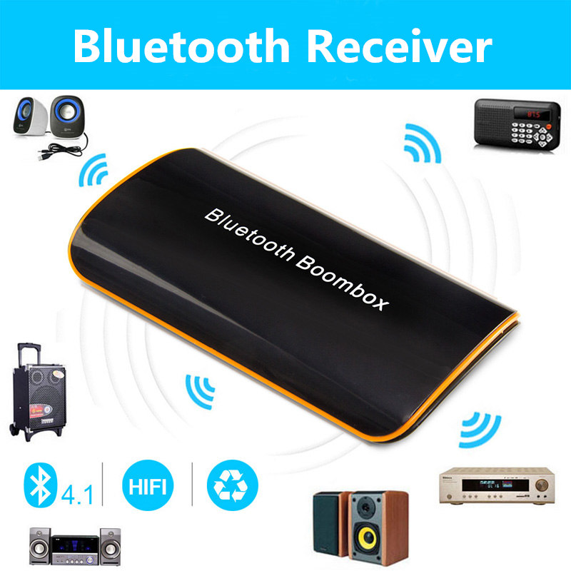 Vensmile B2 Wireless Bluetooth Receiver BT 4.1 Audio Music Box with Mic 3.5mm RCA for Phones Car AUX Home Audio System Devices(China (Mainland))