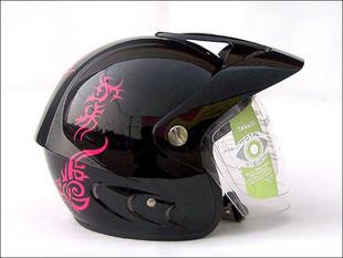 German tank helmet motorcycle helmet electric bicycle helmet t590-1 illusiveness black and red(China (Mainland))