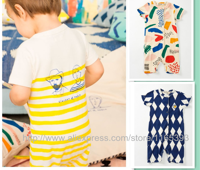2016 SPANISH BRAND BOBO CHOSES  BABY rompers kids jumpsuites baby girl clothes kikikids baby clothes BABY BOY CLOTHING KIKIKIDS <br><br>Aliexpress