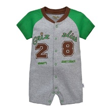 Baby rompers baby girls  summer newborn clothing clothes short-sleeve romper boys