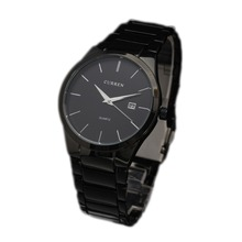 Marca Curren 2015 moda diseño Simple de negocios calendario macho de la aviación reloj Casual acero inoxidable reloj del cuarzo de lujo