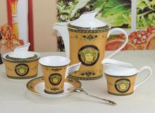 Free Shipping European Style High-grade Luxury Bone China Ceramic Tea And Coffee Set