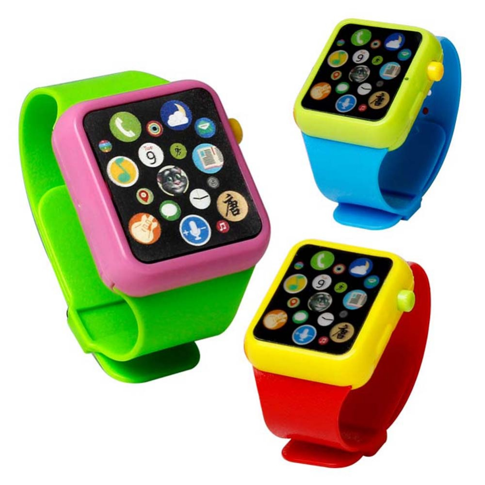 Kids Early Education Smart Toy Watch Musical Learning Machine 3D Touch Screen Wristwatch Toy Electric Music Wrist Watch Toy(China (Mainland))