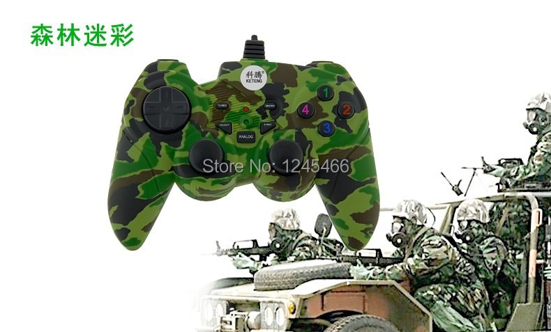 2014 New free shipping hot USB wired gamepad joypad controller for ps3 free shipping(China (Mainland))