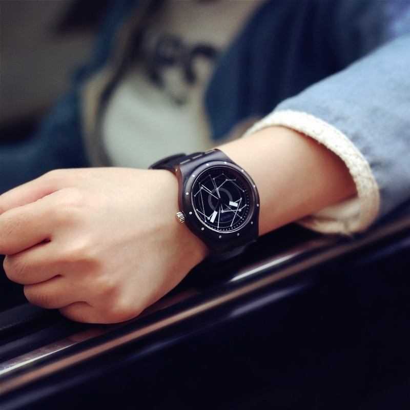 Brand New Style Watch Men Fashion Round Steel Case Men Women Leather Quartz Watch Wrist Watch Relojes Hombre<br><br>Aliexpress