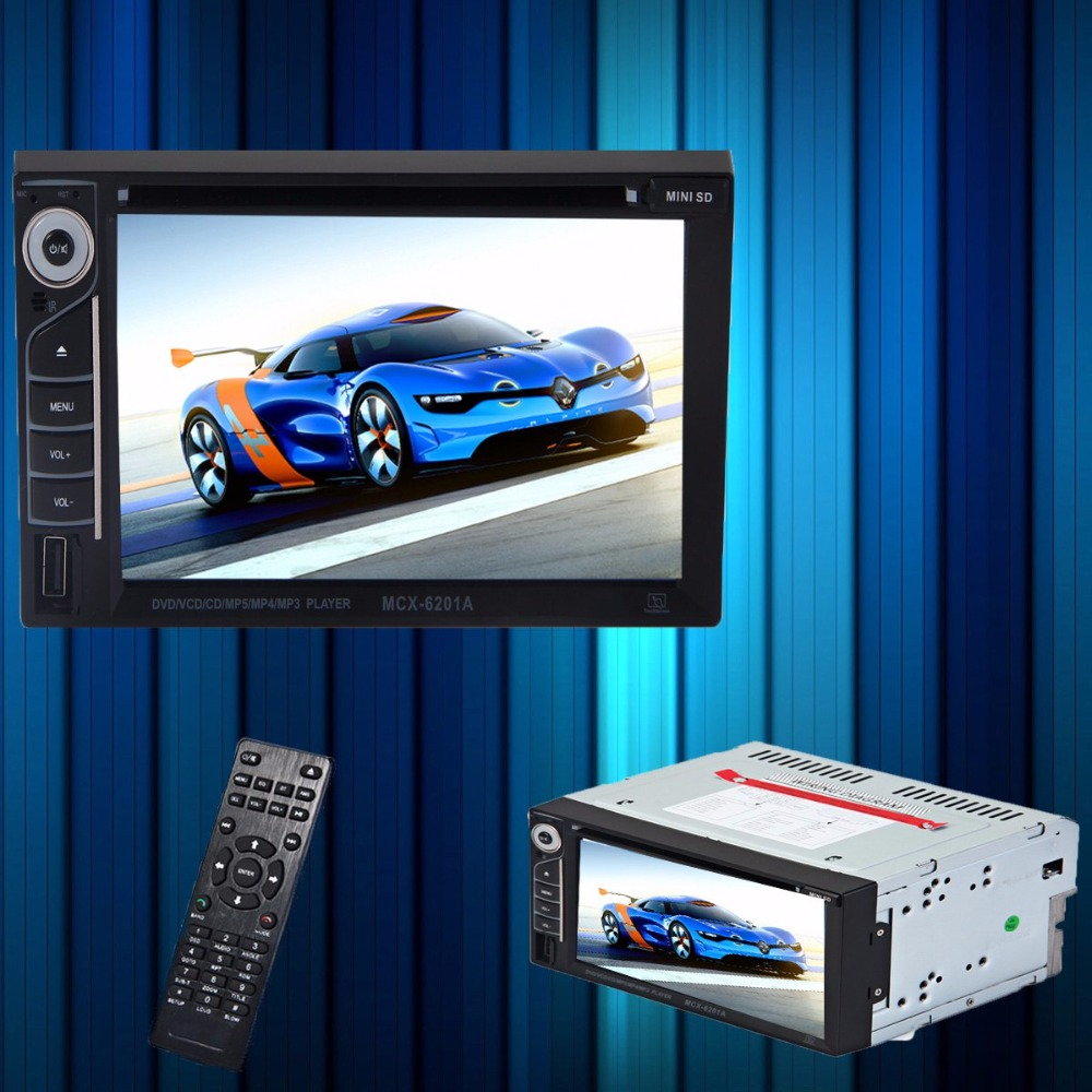 2-Din Car Audio DVD Multimedia DVD Player with 6.2 Inches Digital LCD Touch Screen Remote Control for Vehicle Vedio LED Device(China (Mainland))