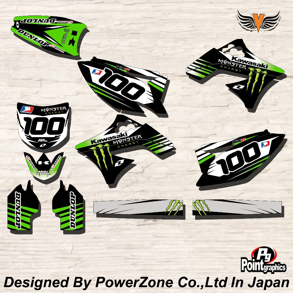 Top Quality Team Graphics &amp; Backgrounds Decals Stickers KMST Kits for KAWASAKI KXF250 KXF450 06-08 08-11 09-12  Free Shpping<br><br>Aliexpress