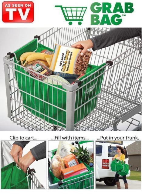 Environmentally Friendly Grab Bag Clip To Cart Shopping Bags 200pcs/lot OPP Bag Package A26(China (Mainland))