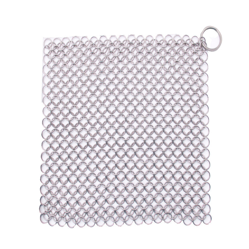 20*15cm Finger Iron Cleaner Stainless Steel Chainmail Scrubber Ringer Cast Iron Chainmail scourer Kitchen cleaning tool on sale(China (Mainland))