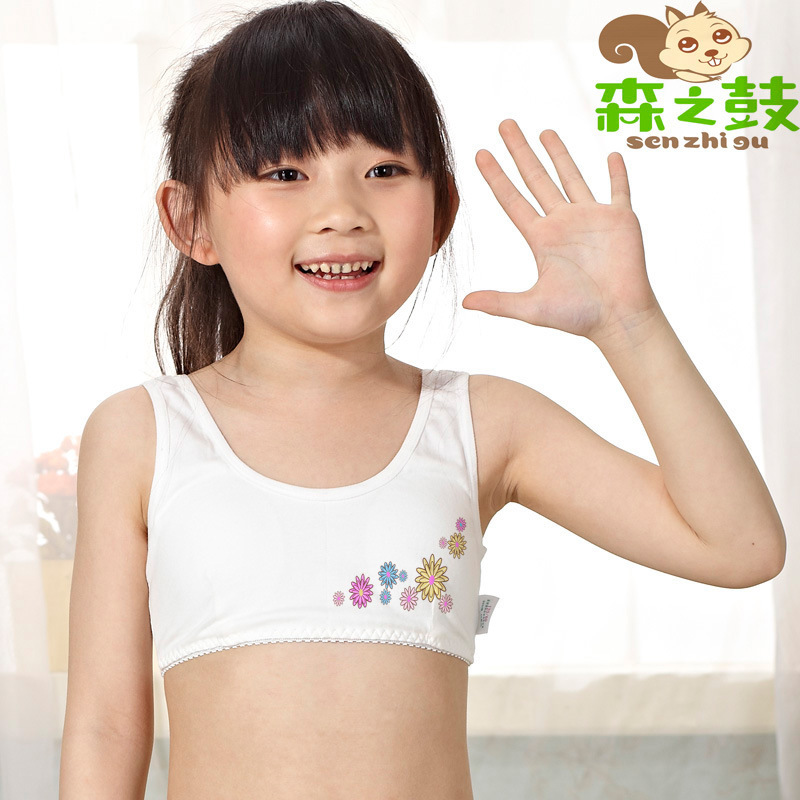 young girls bra for kids puberty cotton no rims girl s bra sports vest