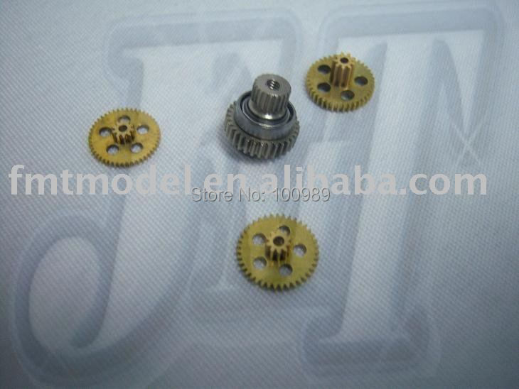 F00439, Metal Gear Boxes Set (4pcs) for MD922 MD 922 Rc Helicopter Servo + FS(China (Mainland))