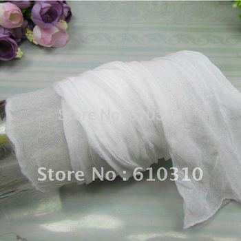 Free Shipping wholesale  white color silk socks net silk flower accessories for DIY(20pcs/Lot)