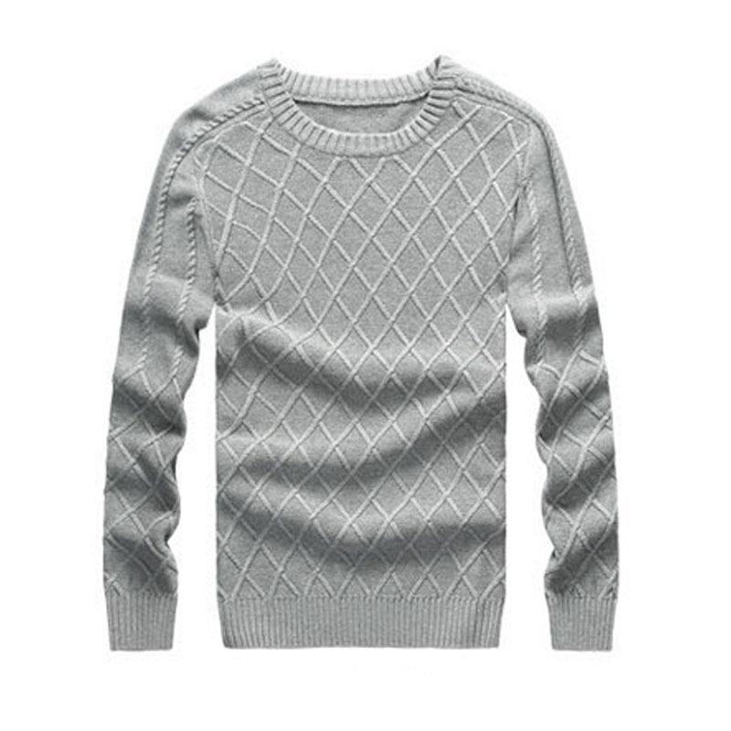 Knit Pullover Sweater Pattern : Men Pullover Sweaters Knitting Pattern Mens Sweaters Brand New O Neck Winter ...