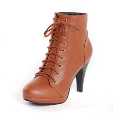 Buy ENMAYER women ankle boots high heel winter fashion Boots sexy warm lady boot heels footwear shoes sale size 39 Platform boots for $27.89 in AliExpress store