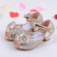 Enfants 2016 bambini sandali principessa delle ragazze dei capretti scarpe da sposa tacchi alti pattini di vestito scarpe partito per le ragazze rosa blu oro(China (Mainland))