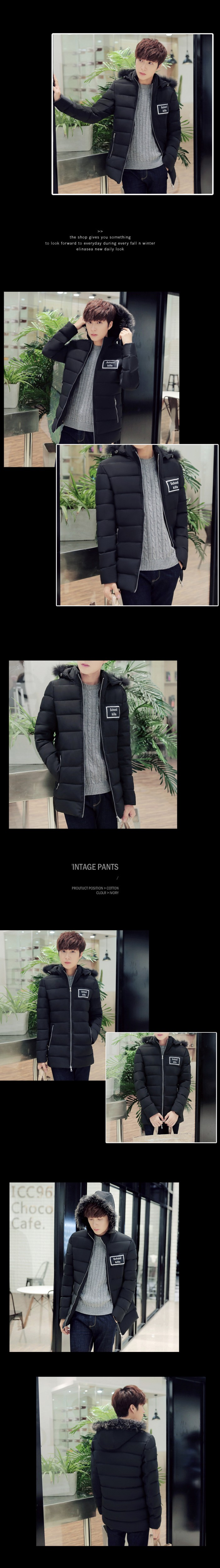 The winter of 2016 new men cotton-padded clothes In the fashion leisure long thickened cotton coat
