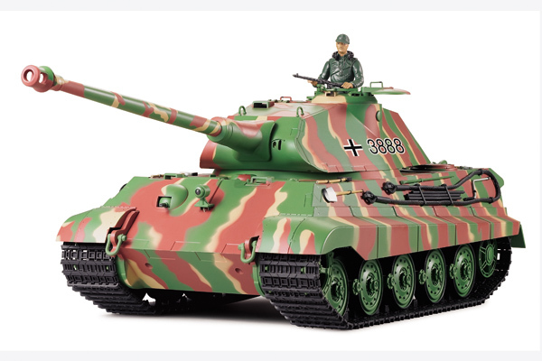 RC/Remote Control Heng Long Tank HengLong 3888 GERMAN KING TIGER 2.4G Controller 4xChannel Battle Bomb Large Scale 1/16