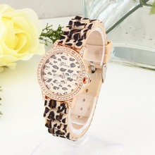 Leopard Wild Geneva Casual Womens Fashion Sexy Leopard Jelly Silicone Quartz Wristwatch
