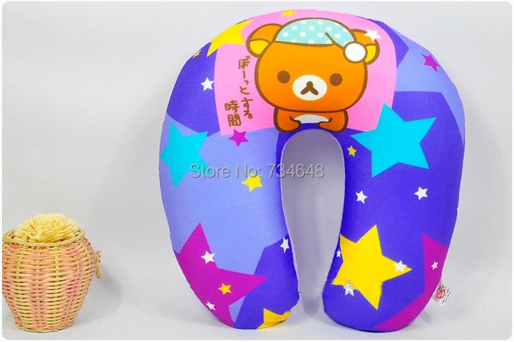 Rilakkuma NM Form Particles U-neck Pillow Travel Pillow 30cm/11.8inch U Shaped Pillow(China (Mainland))