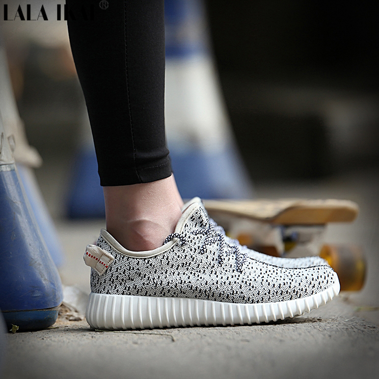 Women's Plus Size 35-42 Yeezy Sneakers Shoes 2015 Promotional Breathable Air Mesh Casual Women Sports Sneakers XWR0013-2(China (Mainland))
