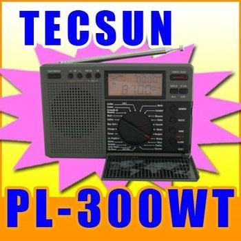TECSUN PL-300WT WORLD TIME FM STEREO AM SW WORLD BAND DIGITAL SIGNAL PROCESSING RADIO