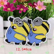 Cloth patch children cartoon stickers embroidered clothes ironing despicable me little yellow man scrapbooking patches buttons