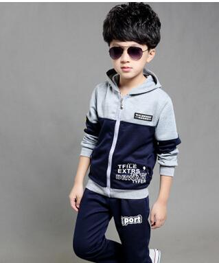 2016 Children Clothing Set Spring Autumn Fashion Brand Kids Boy Coat Jacket Pants Boy Sport Suit Girl Clothing Sets(China (Mainland))