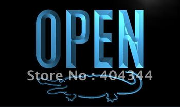 LK858- OPEN Crocodile Display Bar LED Neon Light Sign