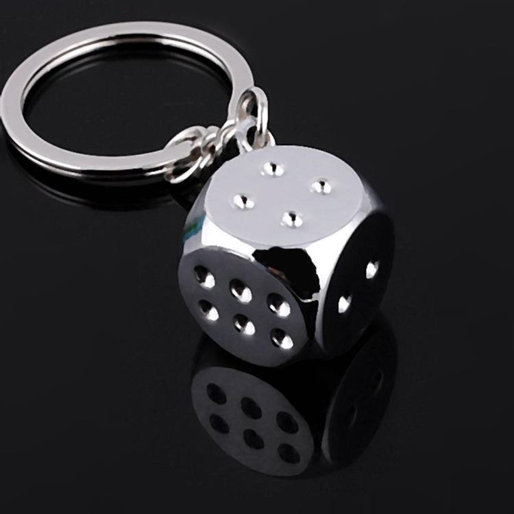 Super Deal New Creative 1 Pcs Key Chain Metal Genuine Personality Dice Alloy Keychain For Car Key Ring Trinket Wholesale A(China (Mainland))