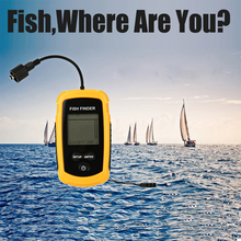 LCD Water-resistant Fish Finder Ultrasonic Sonar Sensor Echo Sounder High Quality Waterproof Fish Finder Tool Kit(China (Mainland))