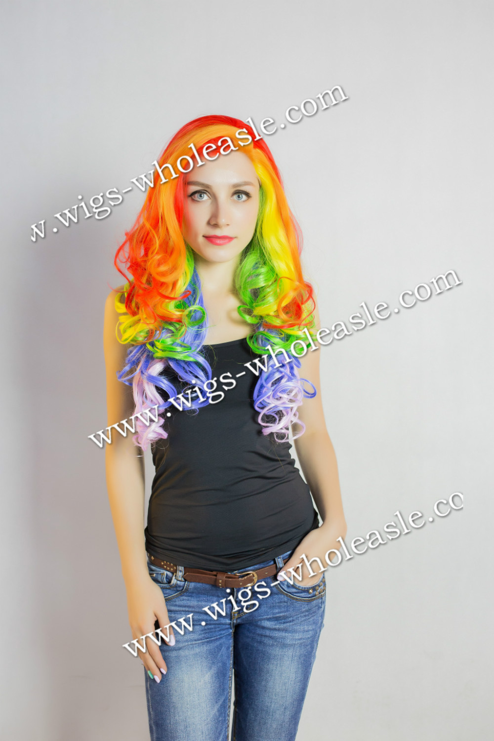 New Fashion Setter Boutique Shinny Carefree Long Wavy Synthetic Heat Resistant Front Lace Wig <br><br>Aliexpress