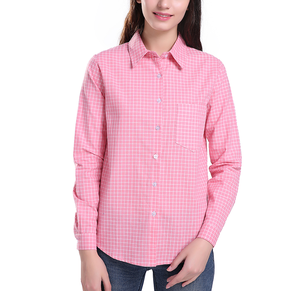 Popular ladies tartan shirt buy cheap ladies tartan shirt Womens red plaid shirts blouses