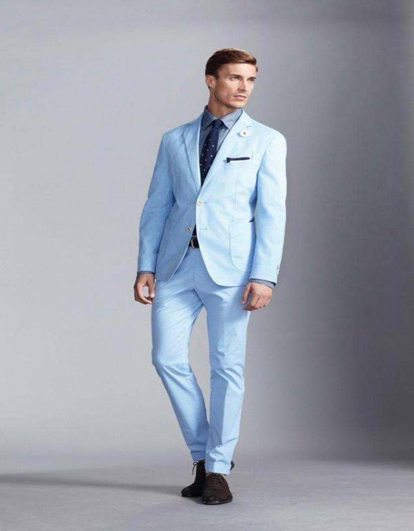 Light Blue Wedding Suit - Ocodea.com