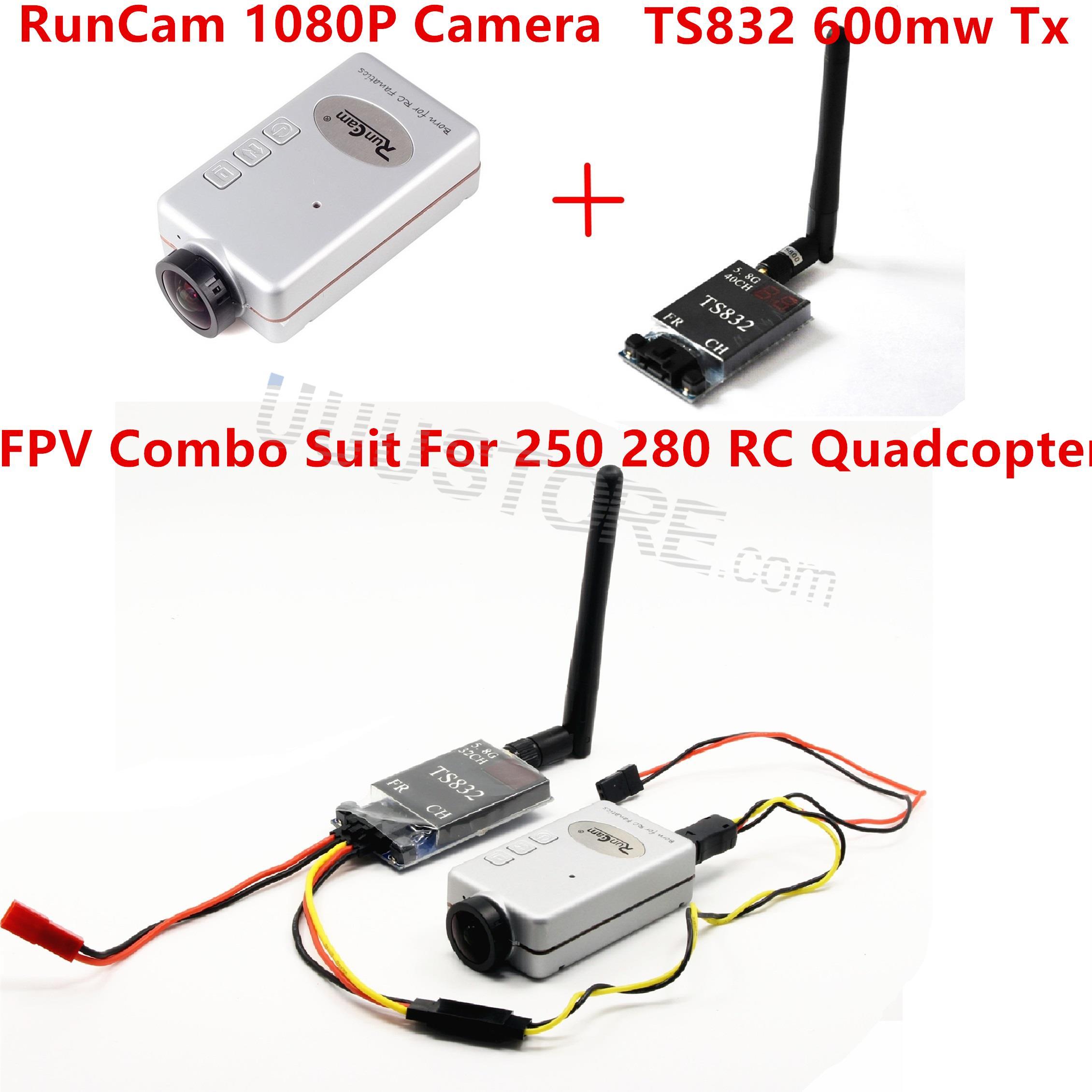 Mini FPV Combo with DVR RunCam 1080P TS832 Video Transmitter For Racing Drone QAV250 RC Quadcopter
