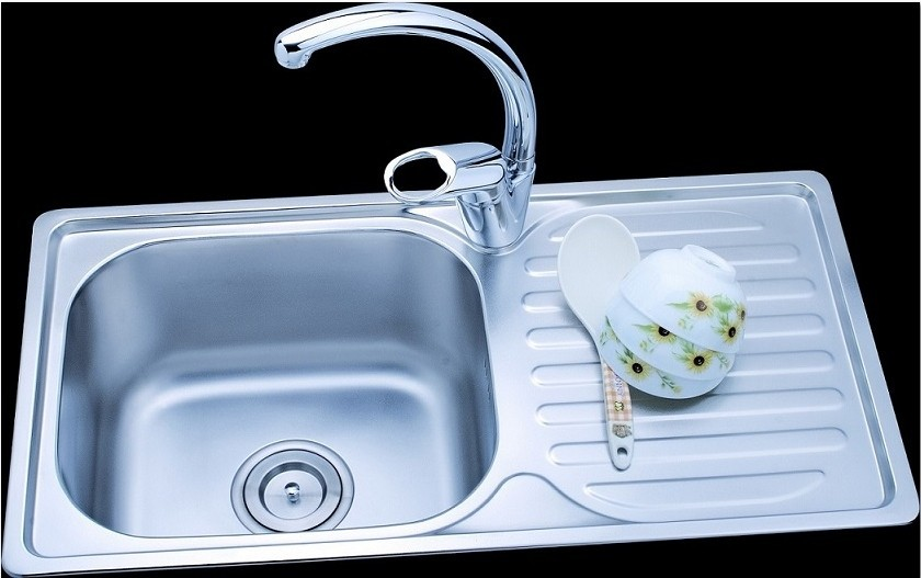 Free shipping high quality 304 stainless steel single bowl for High quality kitchen sinks