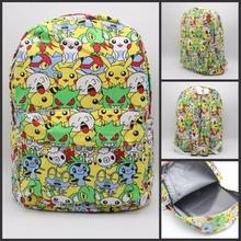 Pokemon GO Backpack Pocket Monster Pikachu Backpack Canvas print School Bag woman men bag student book bag