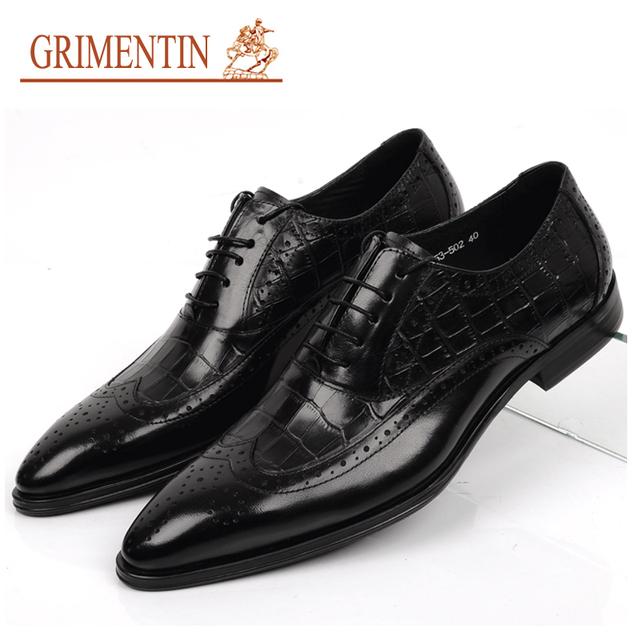 Grimentin мода старинные работы оксфорд обувь роскошный черный свободного покроя ...