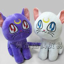 20cm Japan Anime Sailor Moon Luna Cat Soft Cotton Cute Plush Stuffed Toys Doll Children Gift For Friend Kids