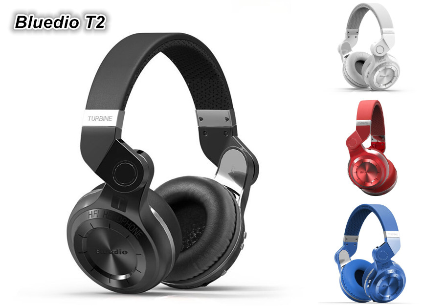 New 100% Genuine Fashion Bluedio T2 Bluetooth 4.1 Wireless Stereo Headphones Headsets Support APP<br><br>Aliexpress
