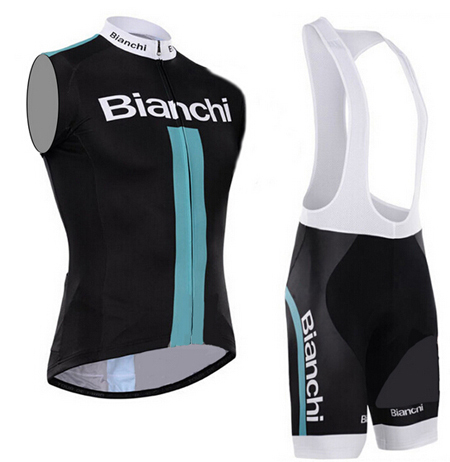 Mountain bike ropa ciclismo Sleeveless cycling jersey 2015 Bianchi 3D gel pad bicycle clothing MTB bicicleta BIB set(China (Mainland))