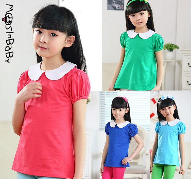 Summer Style T-Shirts Childrens Place Girl Cotton Printed Shirt Girls Short Sleeve T-Shirt 5-14Y Kids T Shirts Clothes for Girl(China (Mainland))