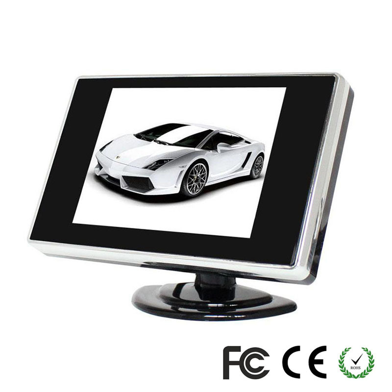 Inch Car TFT LCD Color Monitor Foldable Car Reverse Rear View Parking Monitor System Waterproof Car Rear View PZ702(China (Mainland))