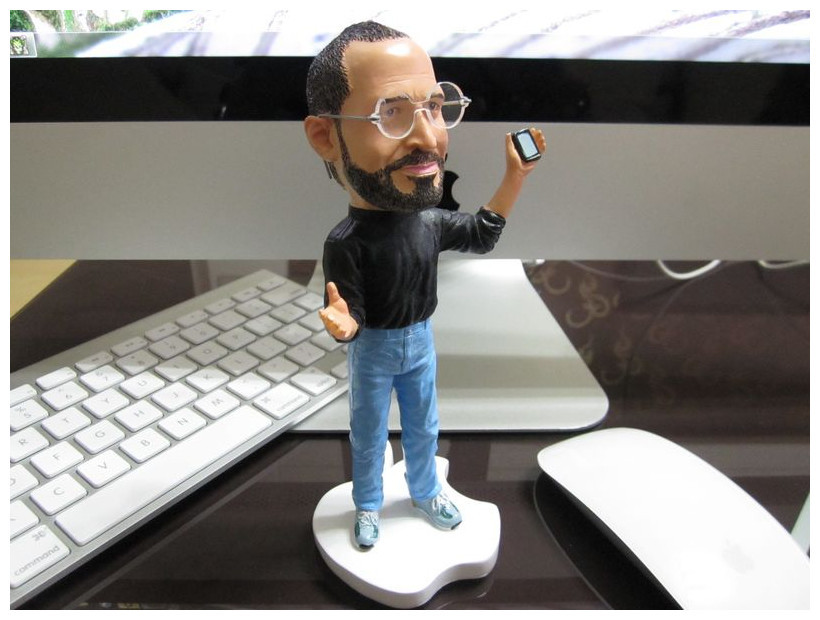 Popular Q version Steve jobs sculpture Dolls Furnishing articles souvenirs for Super fan Free shipping(China (Mainland))