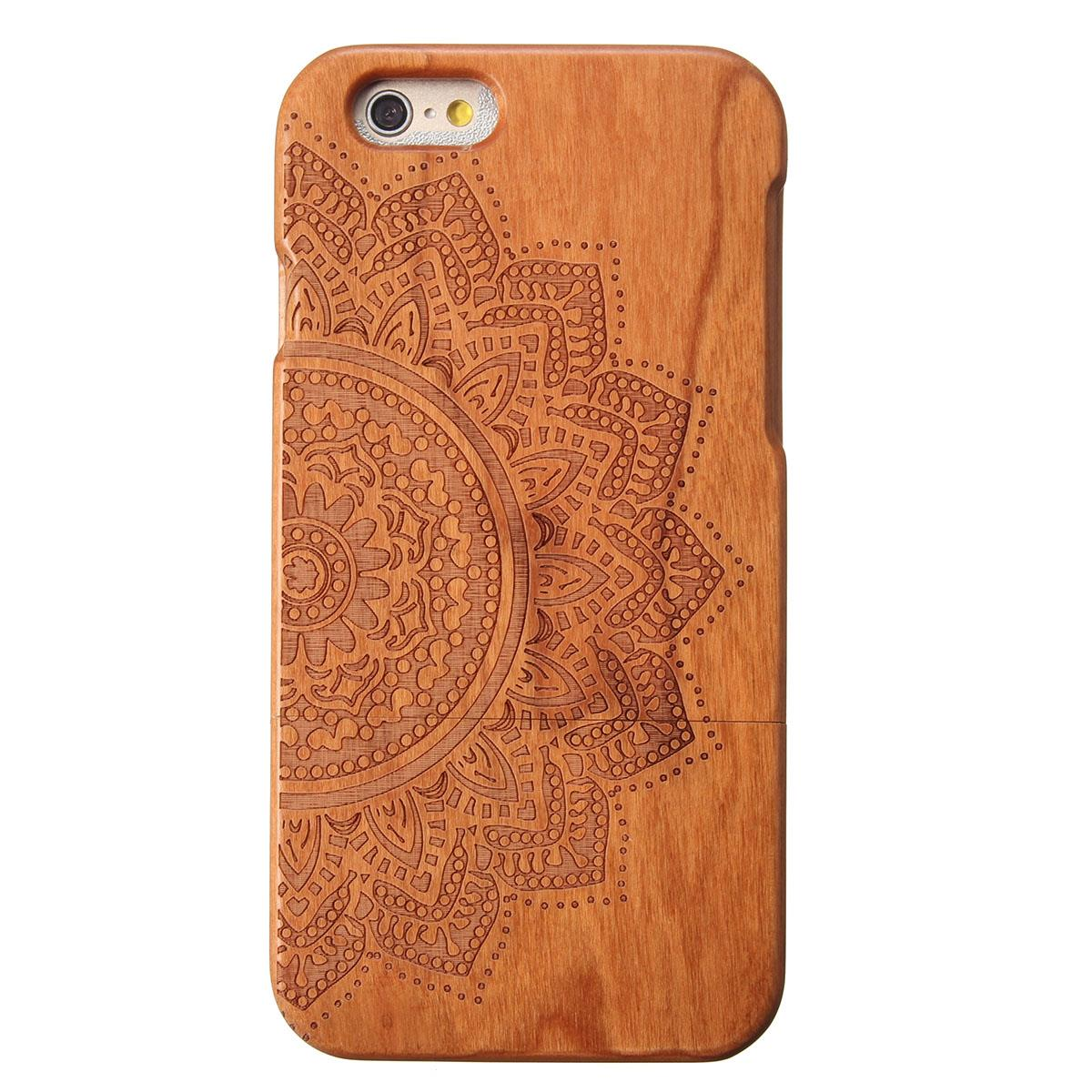 New Handmade REAL Wooden Case Hard Back Cover Case For Apple for iPhone 6 6s 4.7 inch Wallet Pouch bag(China (Mainland))