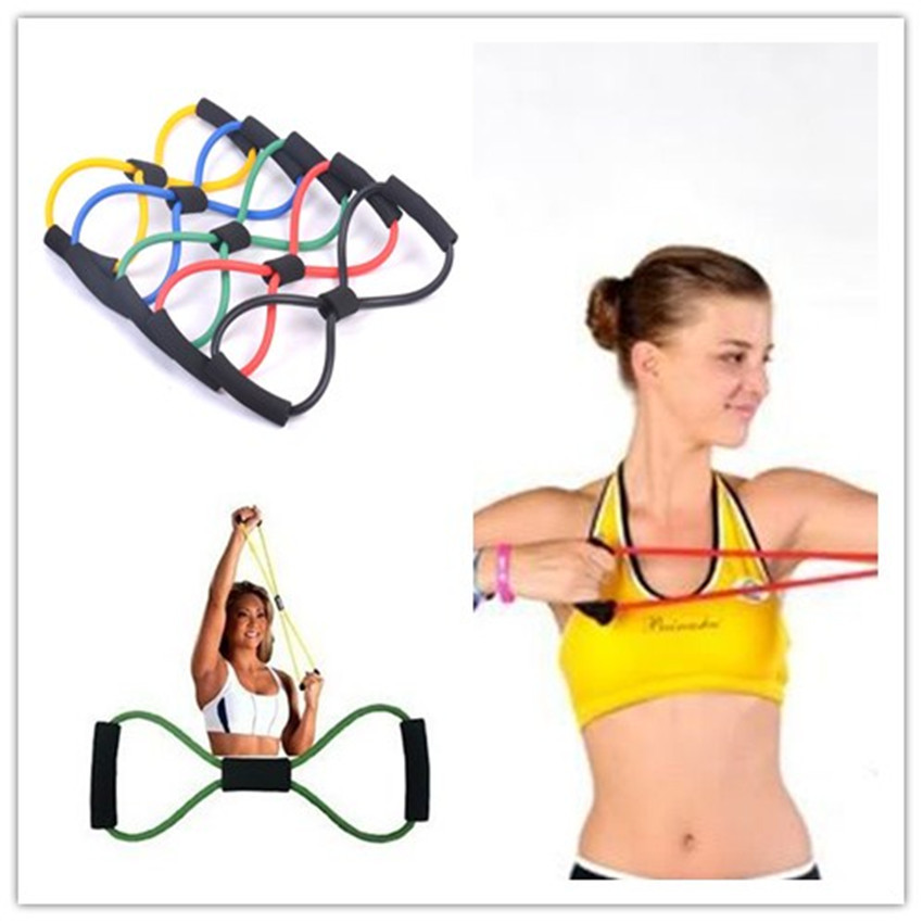 Гаджет  New Fashion Bodybuilding Equipment Resistance Training Workout Yoga At Home With A Tube 8 Rally Is A Fitness Tool Free Shipping None Спорт и развлечения