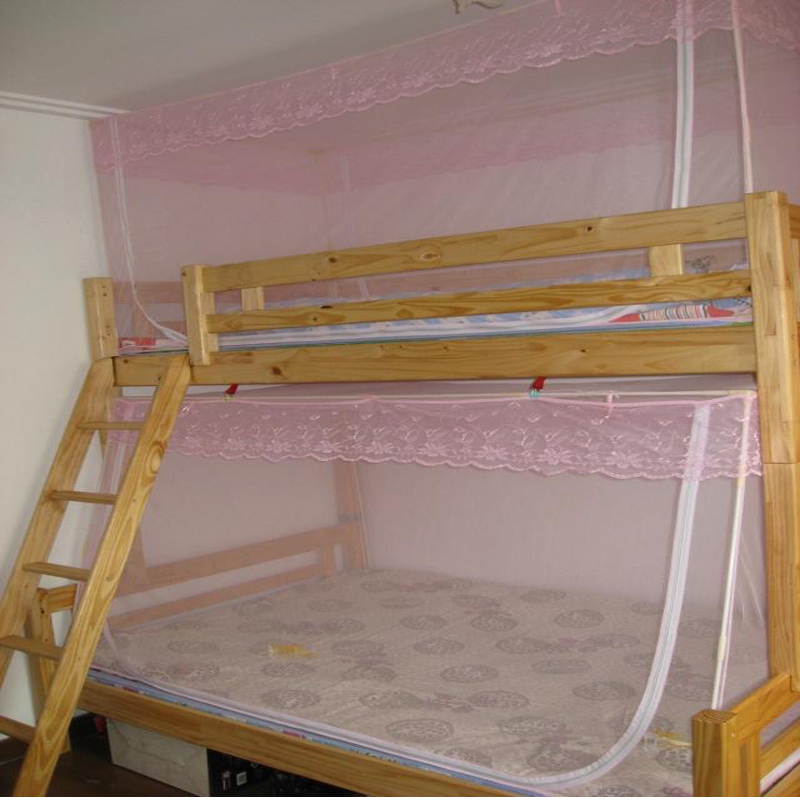 Free shipping student mosquito net bunk beds mosquito net for Bed with mosquito net decoration